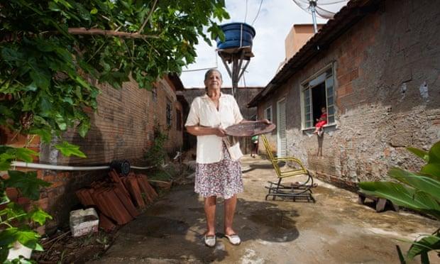 Jalviana Morais da Costa, 86, is a former garimpeira, or gold hunter in the river banks in Paracatu, Brazil