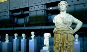 Rome, Italy --- View of Roman Sculpture at the Centrale Montemartini Photograph: Massimo Listri/Corbis