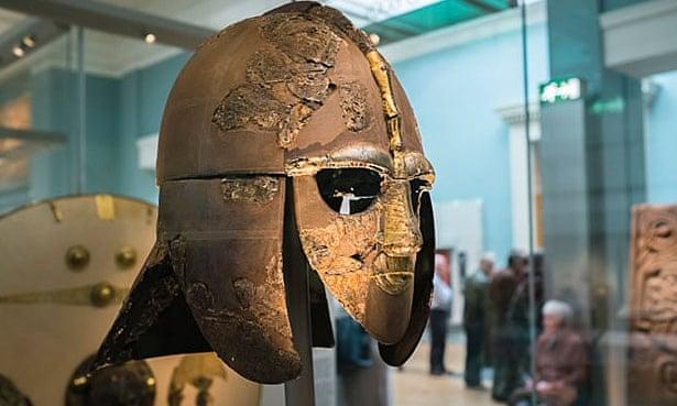 Saxon helmet from Sutton Hoo.