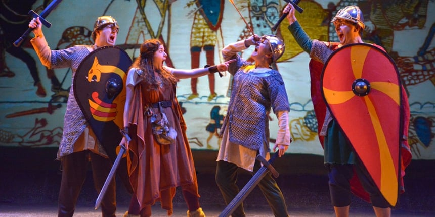 Norm's here … King Harold gets an arrow in the eye, as portrayed in Incredible Invaders
