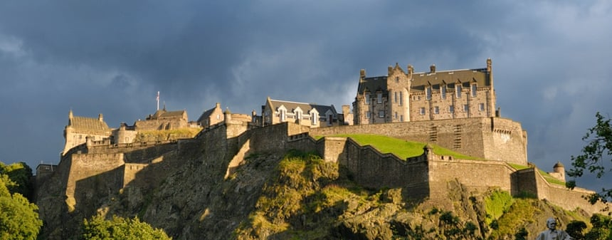 Bloodstained rock … Edinburgh Castle has seen its share of foul deeds over the years.