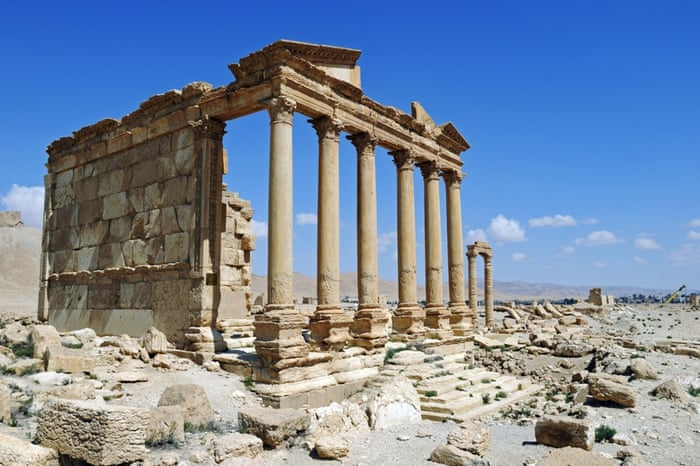 Ruins of the Perystil grave temple, Palmyra