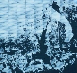 Circa 1968, a 2004 lintwork by Mary Kelly