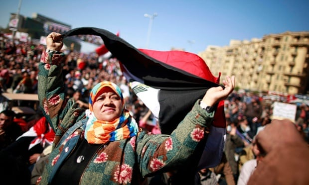 Protesters demanding the army hand power to civilians, Tahrir Square, Cairo, 2012.