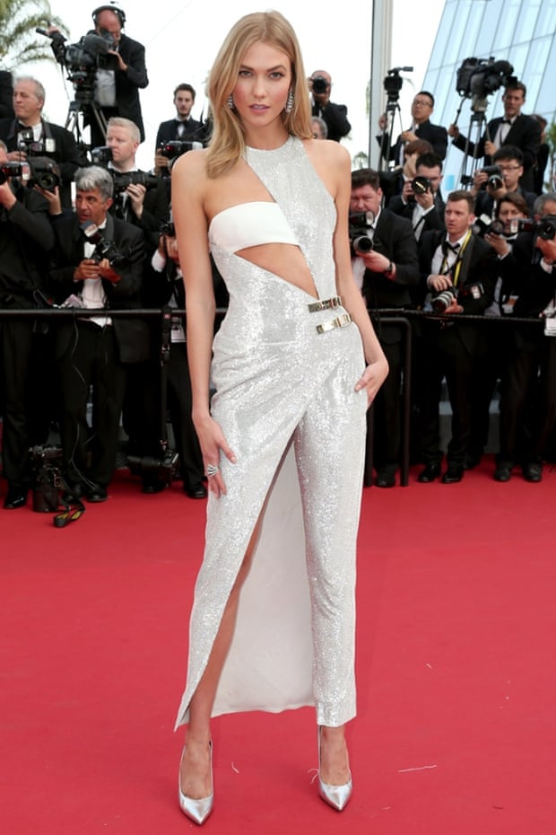 Karlie Kloss at the opening ceremony and premiere of La Tête Haute at the Cannes film festival 2015.