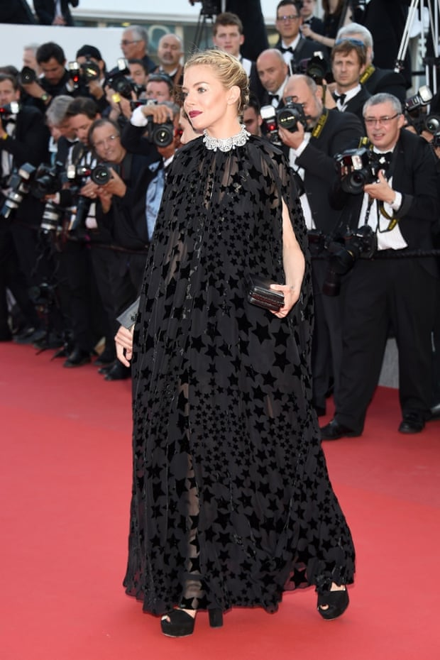 Sienna Miller at the Carol premiere at the Cannes film festival 2015.