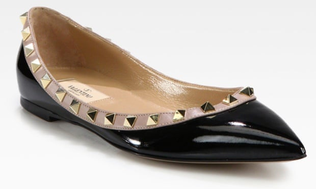 A Valentino flat ballet shoe.