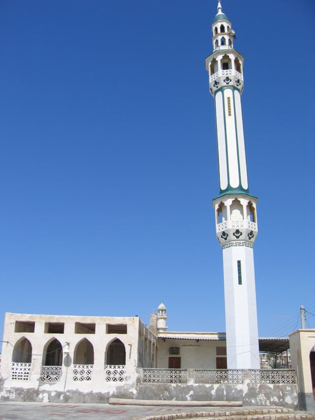 A mosque at Bandar-e Lotf in Iran.