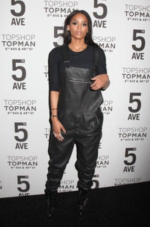 Ciara at Topshop, New York, November 2014.