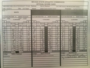 Official scorecards