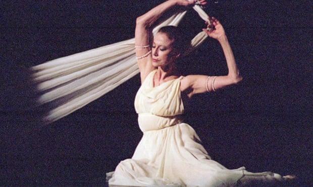 Maya Plisetskaya performs at the National Ballet Theatre in Kiev, Ukraine, in 1996.