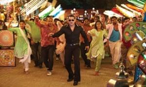 Salman Khan in Dabangg film still.