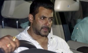 Salman Khan leaves court in Mumbai, India, after his conviction for culpable homicide.