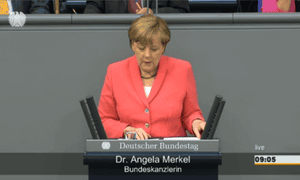 Angela Merkel in the Bundestag, June 18 2015