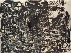 Jackson Pollock, Yellow Islands (1952). Courtesy of the Pollock-Krasner Foundation ARS, NY and DACS, London 2015
