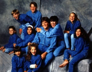 Bruce Jenner with the Kardashian-Jenner clan.