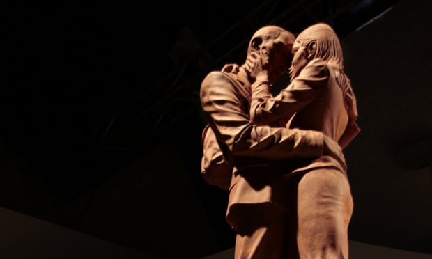 A maquette of The Meeting Place, a sculpture by Paul Day.