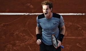 Great Britain's Andy Murray celebrates h