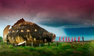 A still from The Act of Killing, Oppenheimer's 2012 documentary about mass killings in Indonesia.