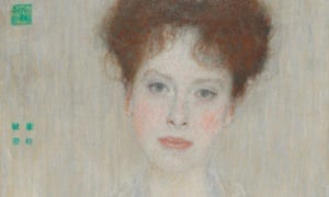 Part of Portrait of Gertrud Loew by Gustav Klimt, which will be auctioned at Sothebys on 24 June.