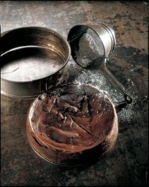 Chilli chocolate chestnut cake