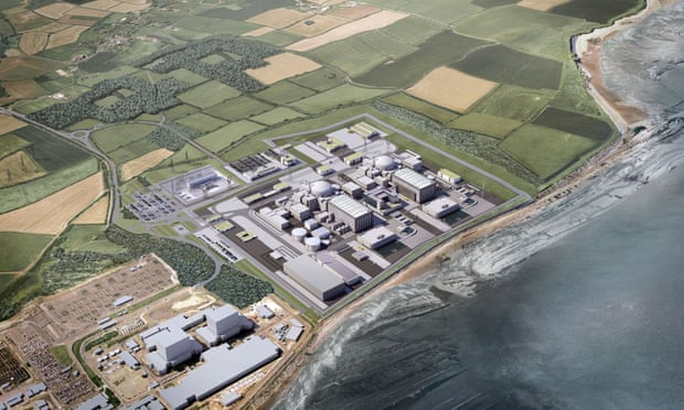 An artist's impression of how the new Hinkley Point C station would look. A law suit against 'boundless nuclear subsidies' for the project is to be filed within days. Photograph: HayesDavidson/EDF Energy/PA