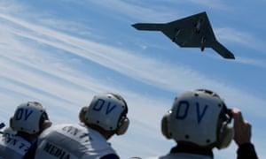 An X-47B drone combat aircraft