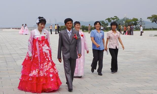 north korea wedding party