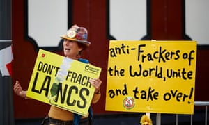 Anti-fracking campaigners