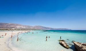 Elafonisi beach in Crete, Greece