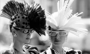 High-fashion hats, 1985. Unemployed youths use creativity and thrift to dress sharply in the recession.