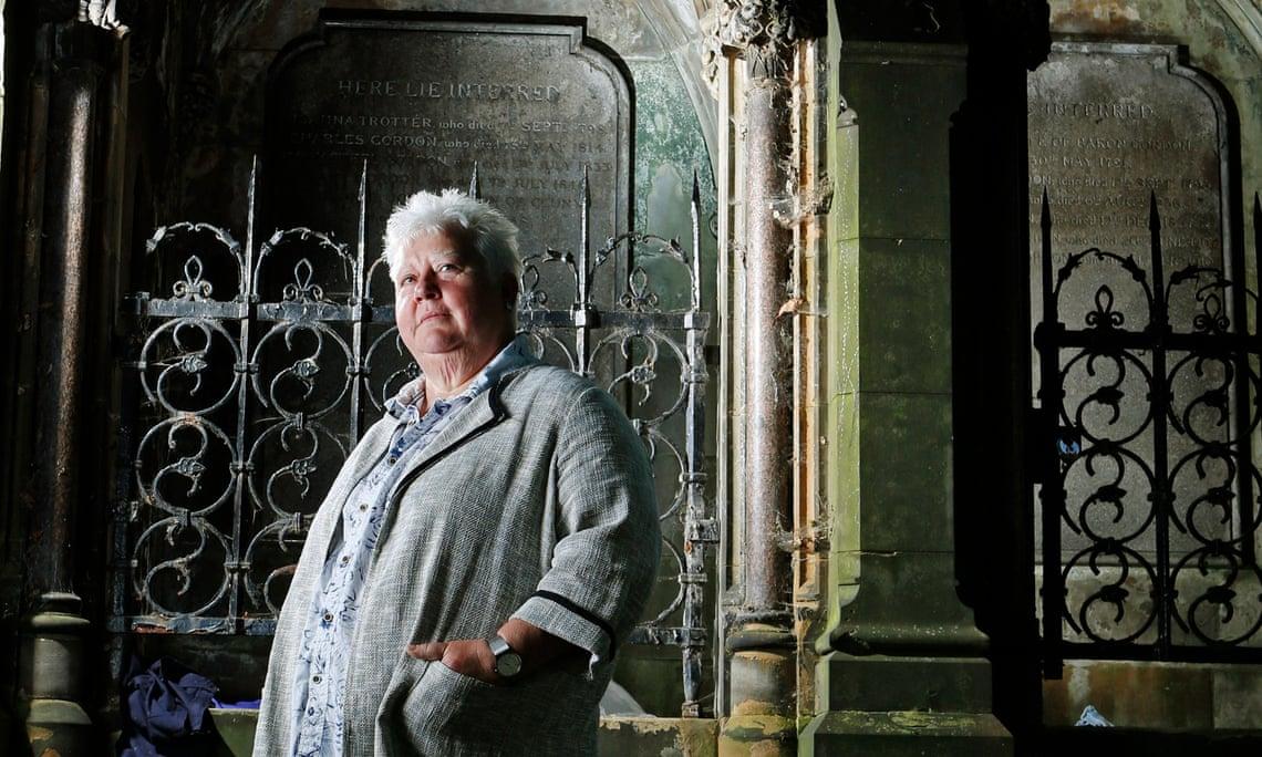 Scottish author Val McDermid in St Cuthbert's graveyard, Edinburgh