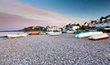 Small boats at Budleigh Salterton