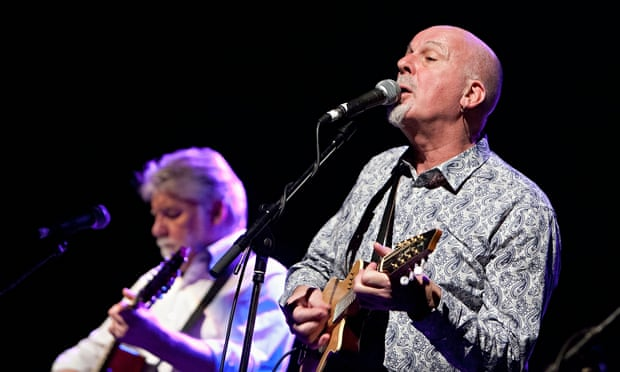 Jokes flying thick and fast … Simon Nicol and Dave Pegg of Fairport Convention.