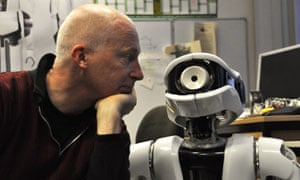 marcus du sautoy with robot