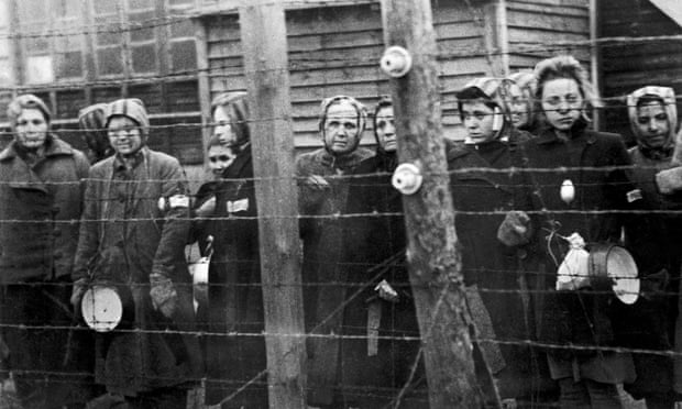 Women await liberation from Ravensbrück in March 1945. Photograph: Keystone-France/Getty Images