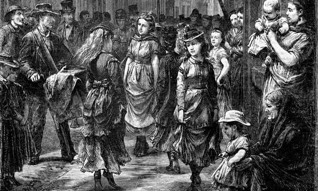 Girls 'dancing for trade' in the mid 1800s