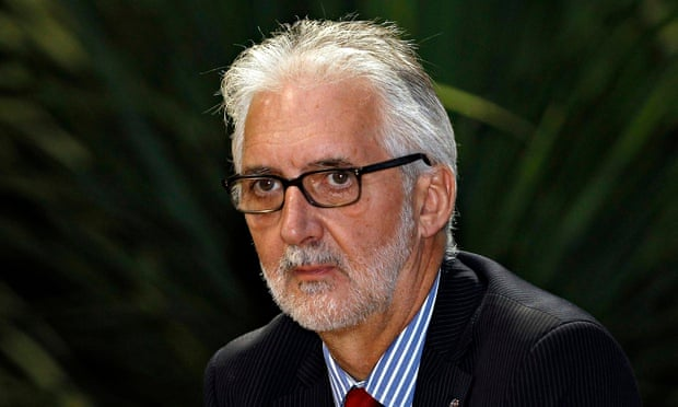 Photo: Brian Cookson, the UCI's president, said: 'I understand the licence commission will be in touch in the next few days.' Photograph: Giampiero Sposito/Reuters .