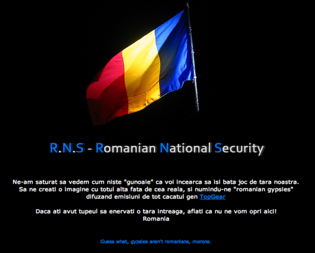 Telegraph site hacked by Romanians