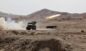 Syrian troops Palmyra