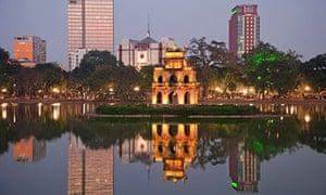 Vietnam, Hanoi, Hoan Kiem Lake, Turtle Pagoda