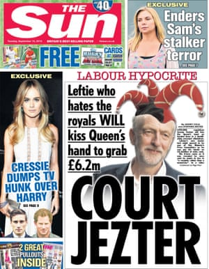 Labour leader Jeremy Corbyn may be ignoring the tabloids but they are not reciprocating.