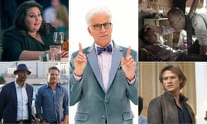 TV's big week: (clockwise from top left) This Is Us, The Good Place,The Exorcist, MacGyver and Lethal Weapon.