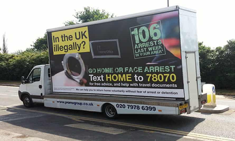 The controversial government adverts urging illegal immigrants to 'go home'