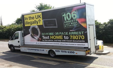 Home Office 'go-home' vans