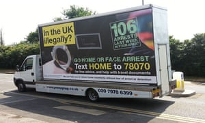 Fawaz's gym is in Brent, one of the areas in London chosen to trial the Home Office's 'Go home' vans in 2013, which the government admitted was not a success.