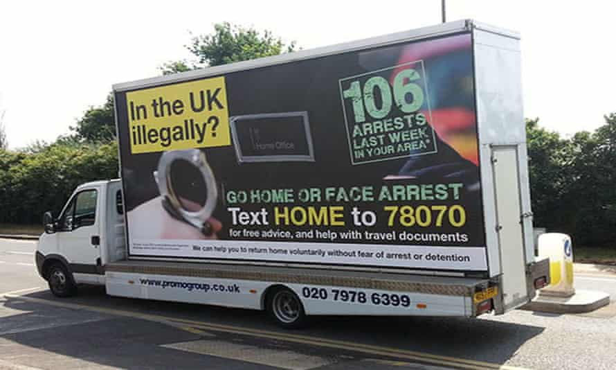 'Go home' vans were used by the government under Theresa May as home secretary.