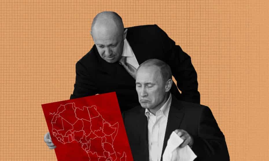 Yevgeny Prigozhin and Vladimir Putin