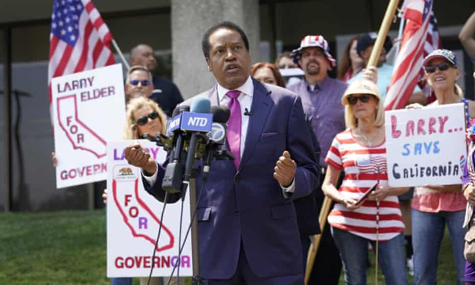Larry Elder would need to win just a plurality of the votes of those who want to recall Gavin Newsom.