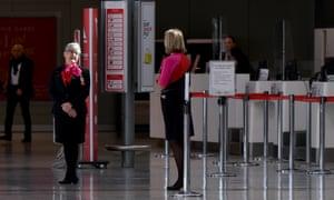 Qantas staff at Sydney airport